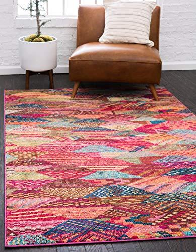 (Unique Loom Sedona Collection Over-Dyed Southwestern Geometric Multi Area Rug (3' 3 x 5')