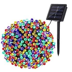 BrizLabs Luci Natale Esterno Solare 22M 200 LED Catena luminosa Esterno Solare Luci Stringa Impermeabile 8 Modalità Luci Natalizie da Esterni per Albero Giardino Natale Patio Balcone (Colorate) 10 spesavip