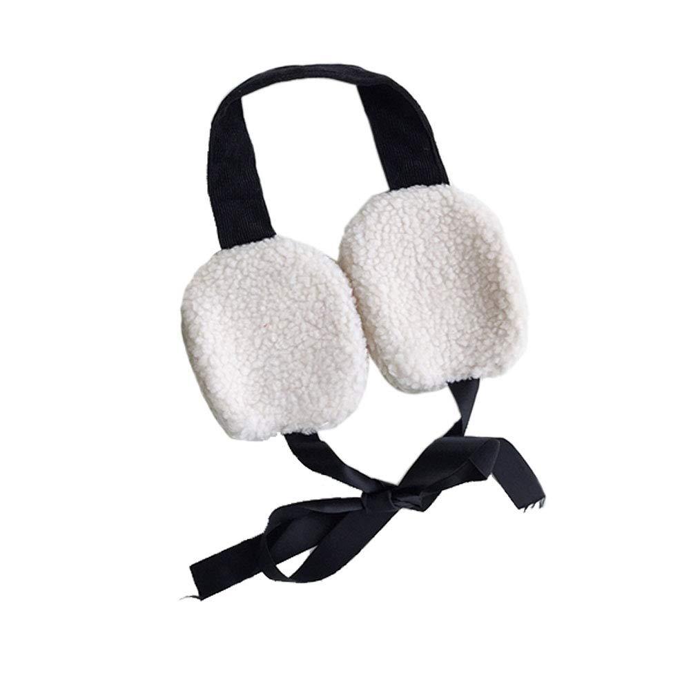 Chic Women Girls Cute Winter Warm Ear Cover Students Plush Soft Earmuffs (Black)