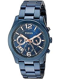 Women's Quartz Stainless Steel Casual Watch, Color:Blue (Model: ES4093)