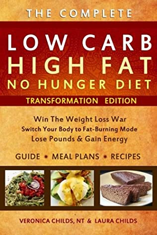 book cover of Low Carb High Fat No Hunger Diet & Recipe Book