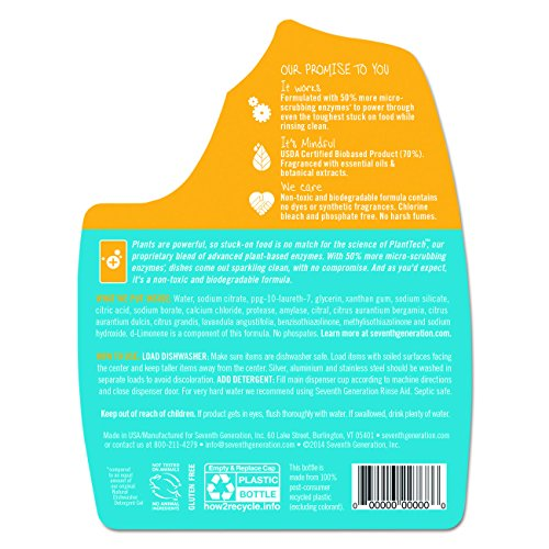 Seventh Generation Ultra Power Plus Auto Dish Gel, Fresh Citrus Scent, 65 Ounce by Seventh Generation (Image #2)