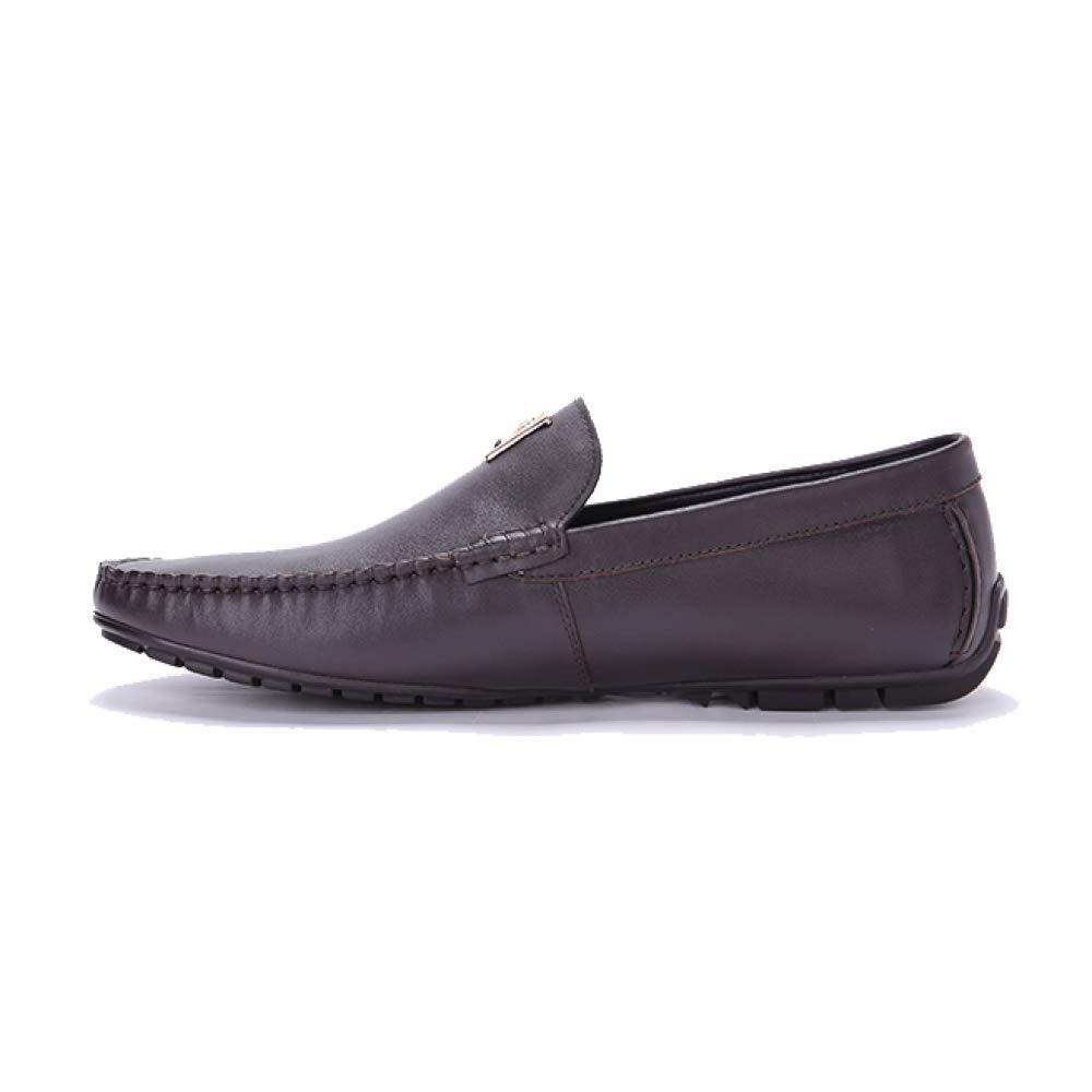 XYCSZQ XYCSZQ XYCSZQ Hombre, Zapatos De Cuero, Casual, Zapatos Perezosos, Broch, Cómodo, Transpirable, Tallado, Caucho 456dfa