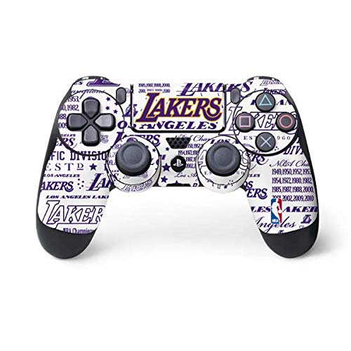 Skinit LA Lakers Historic Blast PS4 Controller Skin - Officially Licensed NBA Gaming Decal - Ultra Thin, Lightweight Vinyl Decal Protection