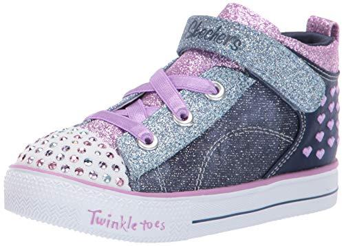 - Skechers Kids Girls' Shuffle LITE-Dainty Denims Sneaker, Navy/Lavendar, 6 Medium US Toddler