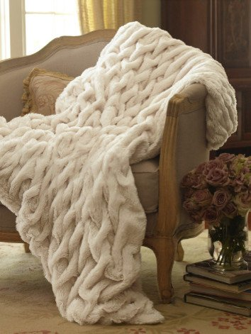 Sofantex Premium Faux Fur Throws White Rabbit
