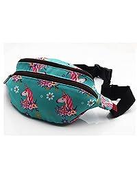 Unicorn Bag Gift Fanny Pack Hip Bag Waist Bag Canvas Bum Belt Hip Pouch Bags