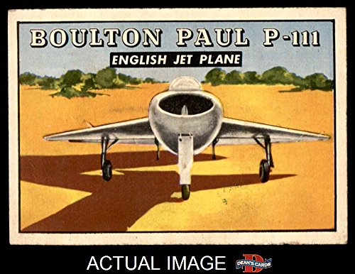 1952 Topps Wings # 165 Boulton Paul P-111 (Card) Dean's Cards 4 - VG/EX