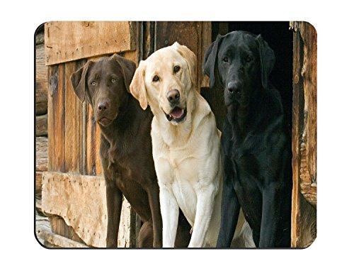 Chocolate Yellow Black Labrador Retriever Dogs Customized Rectangle Non-Slip Rubber Mousepad Gaming Mouse -