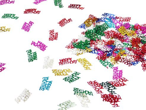 dazzling toys Colorful Happy Birthday Words Confetti. Greatest Party Decoration. -