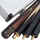 "Mark Richard Stylish 57"" Handmade 3/4 Piece Snooker CUE - CASE - 2 Extensions"