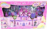 (US) 23 pc. Beauty Castle My Dream Castle Light Up and Music Playset Princess Playset Doll House Childrens Doll House Castle Pink and Purple Including Prince and Princess