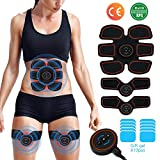 [2018 New upgrade] EMS Muscle Stimulator,Abs Trainer, Abdominal Toning Belts Muscle Toner Gym...