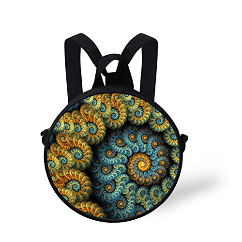 Round Backpack Circle Women Print Bag FancyPrint NYEC0326I Stylish for for Girls 0nO4wqWRE