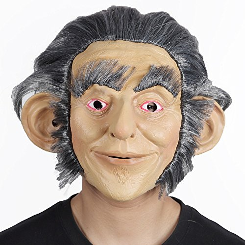 J.S.U Film Characters Mask Gray Hair Cosplay Actor's Headgear ( Size : Adult (Halloween Film Characters)