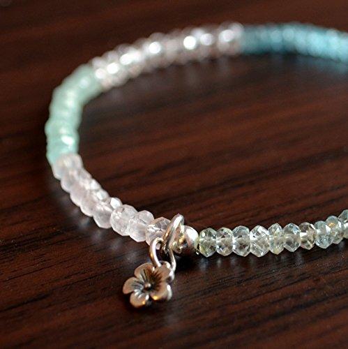 (Gemstone Stretch Bracelet in Pastel Colors)