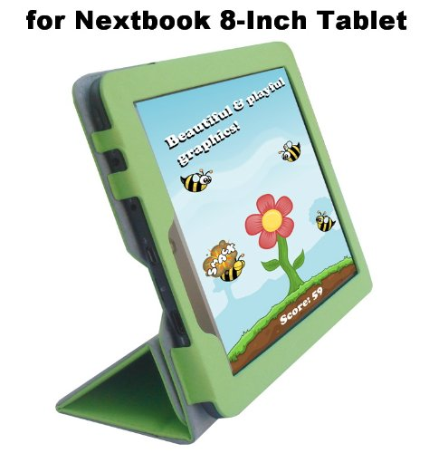 Nextbook 8-Inch Tablet (Model NX008HD8G) Custom Fit Portfolio Leather Case Cover with Built In Stand- - Case Inch Nextbook 8
