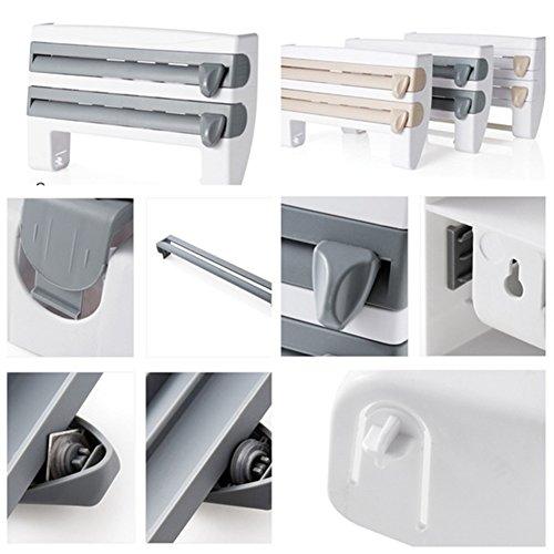 Amazon.com: Kitchen Paper Roll Dispenser, Multifunctional Cling Film, Foil & Rack Sauce Bottle Storage - Paper Towel Holder Kitchen Accessories(5.35