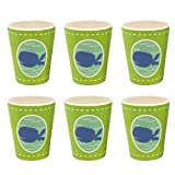 Bamboozle Tiny Footprints Set of 6 Wally Whale Cups, 24 Piece