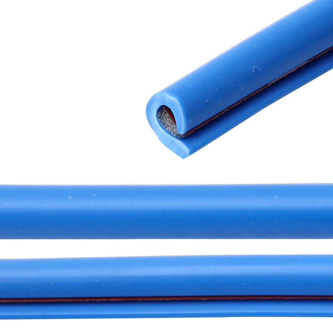 Protecci/ón Canto Puerta 5m en Azul para Coche Cortable Autoadhesivo Coche Veh/ículo Perfiles en u Altamente Flexible