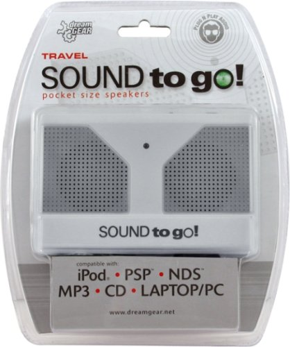 DreamGear Sound to Go Pocket-Sized Speaker System (White) -