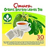OMURA Organic Soursop Graviola Guanbana Leaves Tea Pack of 25 Bags