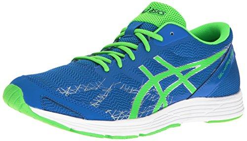 Asics hombres de Gel Hyper velocidad 7Running Shoe Electric Blue/Green Gecko/Indigo Blue