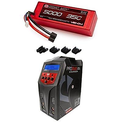Venom 35C 3S 5000mAh 11.1 LiPo Hardcase Battery with Universal Plug and Venom Pro Duo 80W X2 Dual AC/DC 7A LiPo & NiMH RC Battery Balance Charger Money Saving Combo