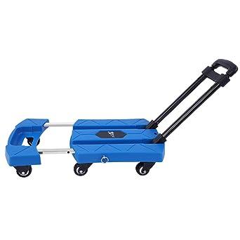 Carretilla Plegable de Mano, Carro Telescópico Portátil de 6 ruedas Capacidad de Carga Máxima 200