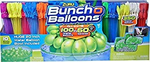 ZURU Bunch O Balloons, Fill in 60 Seconds, 350 Water Balloons, 20