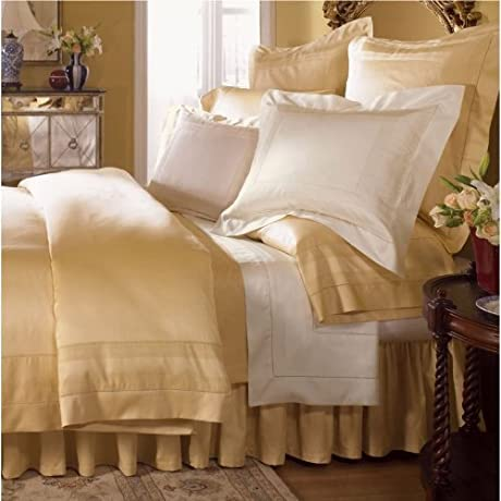 Sferra Capri Honey Full Queen Flat Sheet Egyptian Cotton Sateen 1020TC Italy