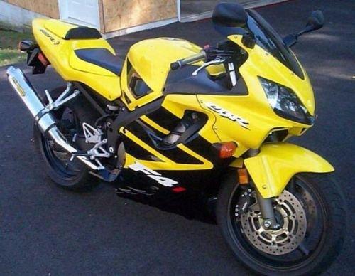 FocusAtOne Yellow with Black Complete Fairing Bodywork ABS Injection Molding Kit for 2001-2003 Honda CBR 600 F4i CBR600F4i 2002 (2002 Honda Cbr 600 F4i Rear Seat Cowl)