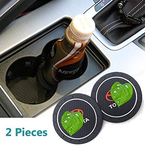 2 Pcs 2.75 Inch Car Cup Holder Coasters for Toyota, Auto Interior Accessories, Silicone Durable Anti Slip Car Cup Holder Coasters for 4Runner, Camry,C-HR,Corolla,Highlander,Rav4,Sequoia,Tacoma,Tundra