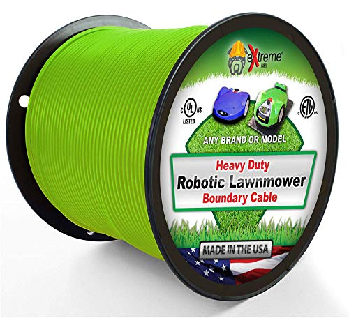 Perimeter Wire - Extreme Consumer Products Heavy Duty Automatic Lawnmower Boundary Wire - 500' 14 Gauge Thick Professional Grade Robotic Lawnmower Perimeter Wire