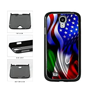 Generic Italy and USA Mixed Flag Plastic Phone Case Back Cover Samsung Galaxy S4 I9500