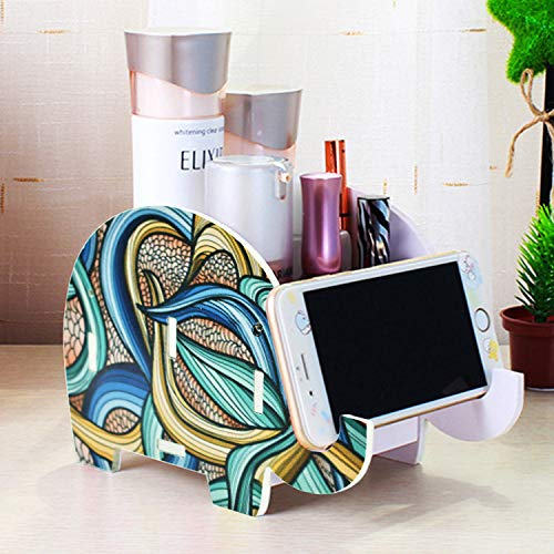 - Desk Supplies Organizer, Mokani Creative Elephant Pencil Holder Multifunctional Office Accessories Desk Decoration with Cell Phone Stand Tablet Desk Bracket for iPad iPhone Smartphone and More