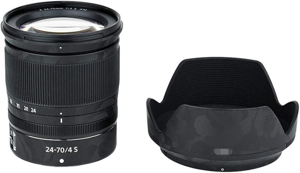 Shadow Black Camouflage Pattern Anti-Scratch Lens and Lens Hood Cover Skin Sticker Protector Film for Nikon Nikkor Z 24-70mm F4 S Lens /& HB-85 Lens Hood Anti-Slide Skin Guard Shield
