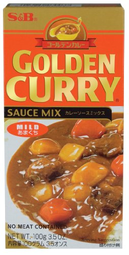 S & B Golden Curry, Mild, 3.5-Ounce Units (Pack of 12)