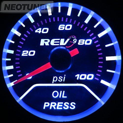 """UNIVERSAL 2/"""" 52MM VOLT VOLTAGE GAUGE CAR METER TINT LENS REV9 POWER"""