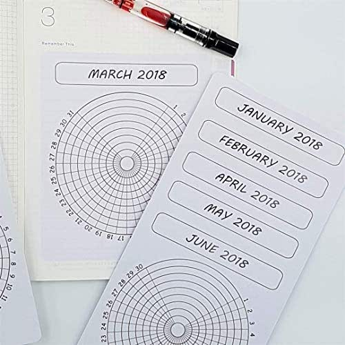 wheel habit tracker sticker | 9 habit tracker for A5 planners and journals for one year