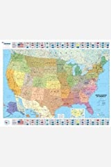 USA Political - Michelin rolled & tubed wall map Encapsulated (Michelin Wall Maps) Map