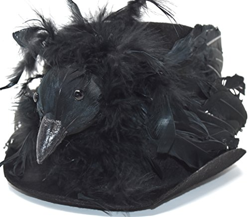 Costumes Top Hats For Sale (Bethany Lowe Halloween Haunted Raven Top Hat RL2899 - Size Large (Haunted Raven))