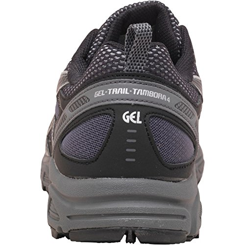 asics mens trail tambora 2 running shoes black/onyx/silver