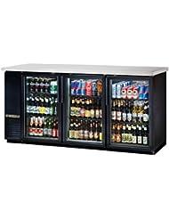 True Black 2-Glass Door Back Bar Cooler for 150 6-Packs