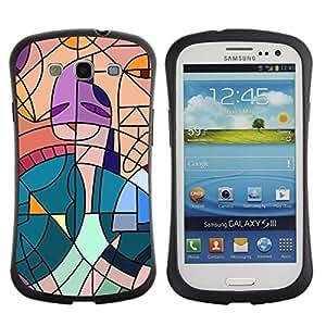 Suave TPU GEL Carcasa Funda Silicona Blando Estuche Caso de protección (para) Samsung Galaxy S3 I9300 / CECELL Phone case / / Cubism Painting Teal Artist Pink Woman /