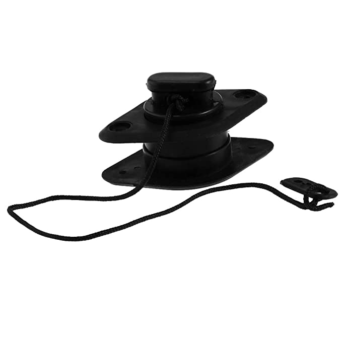 Boat Drain Valve Cap Accessories for Kayak//Inflatable//Dinghy//Boat// Speedboats perfk Black Scupper Plugs