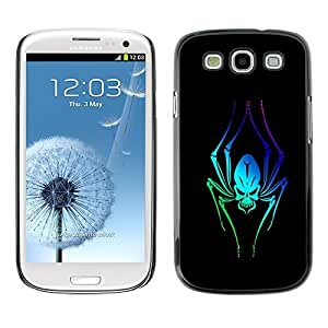 GagaDesign Phone Accessories: Hard Case Cover for Samsung Galaxy S3 - Alien Neon Spider