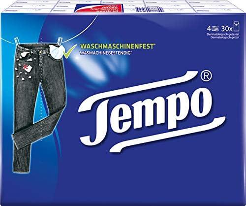 Tempo Klassik Taschentücher, 4-lagig - 5X 30 Päckchen mit je 10 Taschentücher