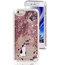 iphone 6/6S Liquid Case,Unicorn Horse Angel Girl Dandelions Print Dynamic Flowing Glitter Sparkle Stars Plastic Case for Apple iphone 6/6S (Z Star-Stand Cat)