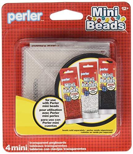 Mini Bead Set - Perler Mini Beads Square Mini Pegboard Set, 4 pcs
